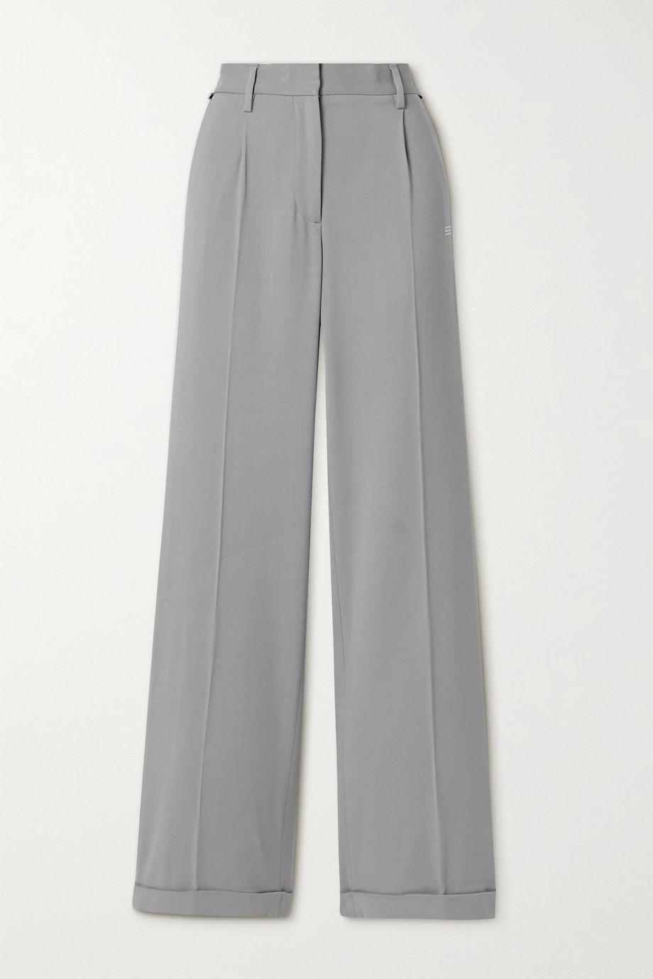 Off-White Printed grain de poudre straight-leg pants