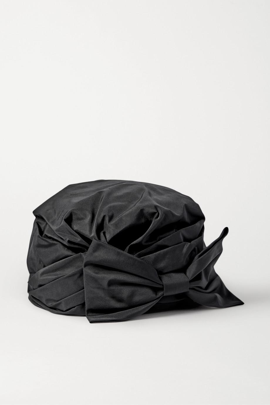 Maison Michel Zoe 蝴蝶结缀饰塔夫绸包头巾