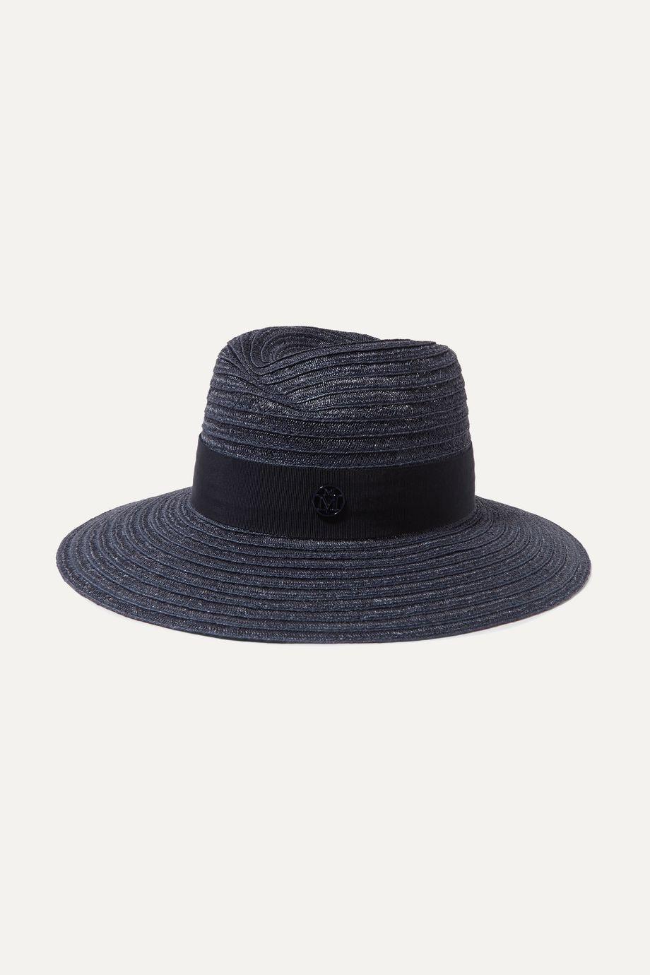 Maison Michel Virginie grosgrain-trimmed straw hat