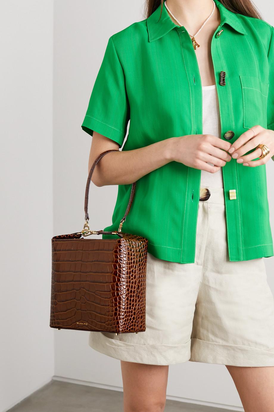REJINA PYO Lucie croc-effect leather shoulder bag