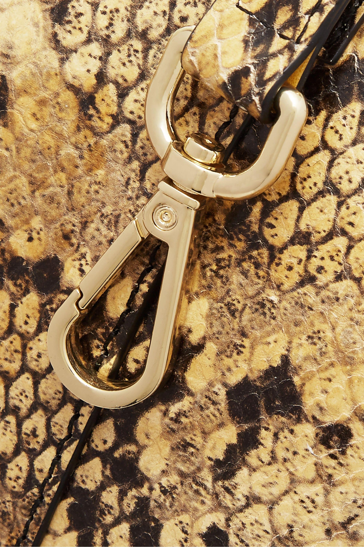 REJINA PYO Lucie snake-effect leather shoulder bag