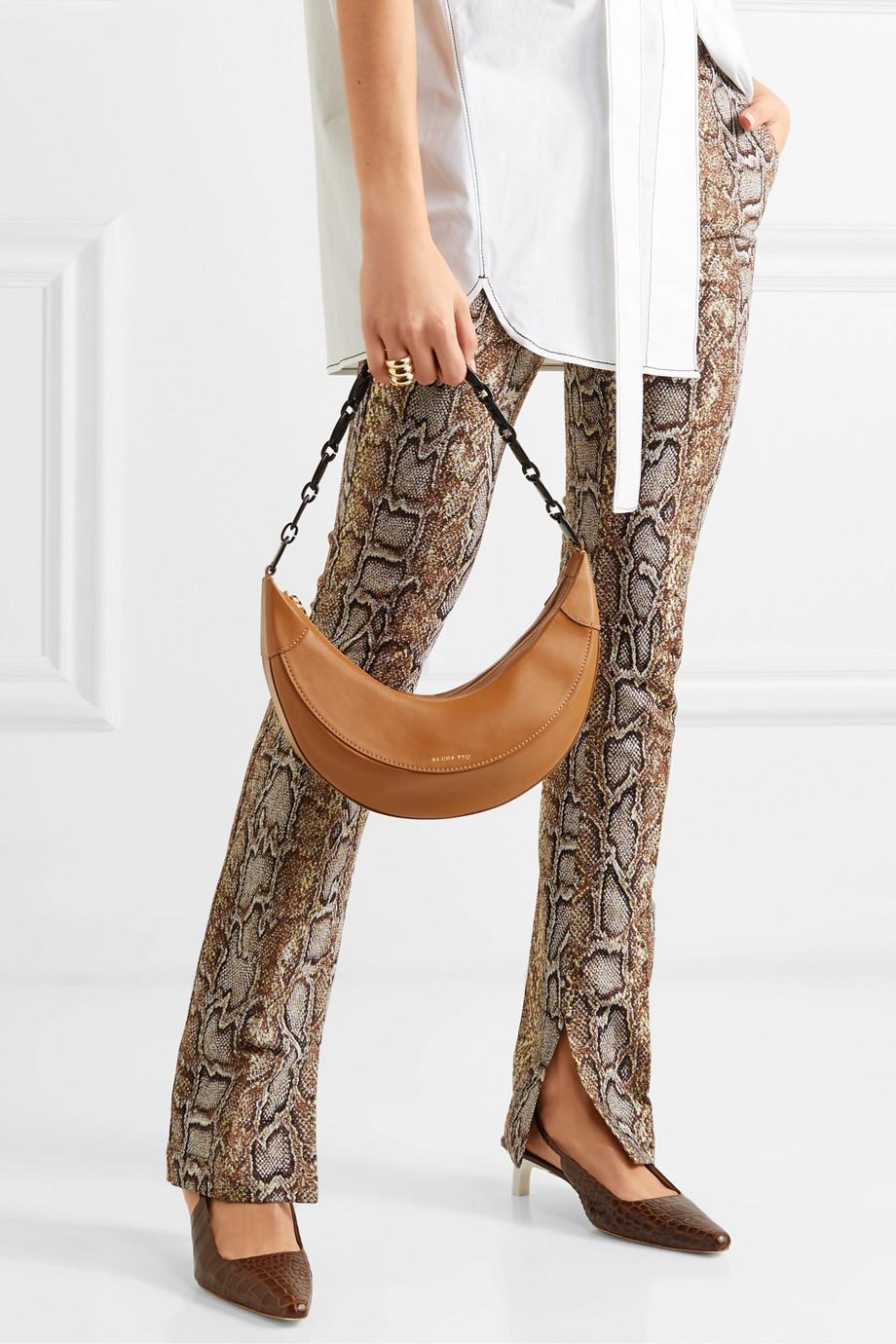 REJINA PYO Banana leather shoulder bag