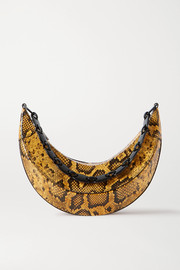 REJINA PYO Banana snake-effect glossed-leather shoulder bag