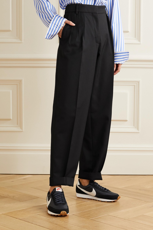 Acne Studios Pleated grain de poudre tapered pants