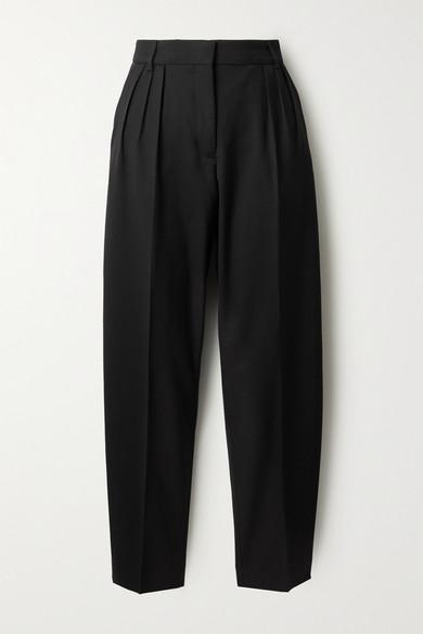 Acne Studios - Pleated Grain De Poudre Tapered Pants - Black