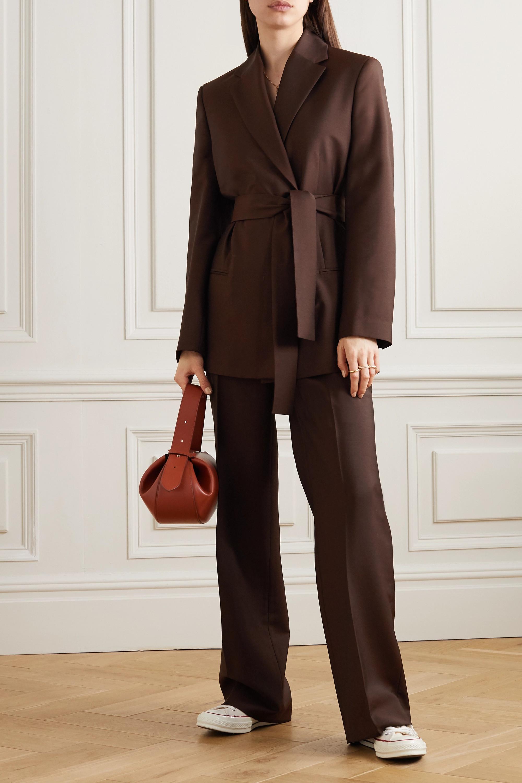 Acne Studios 配腰带双排扣羊毛马海毛混纺西装外套