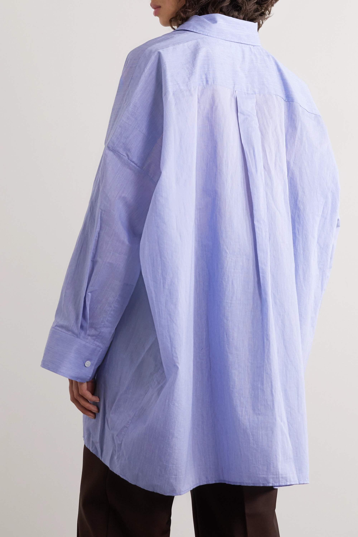 Acne Studios Oversized cotton-blend poplin shirt