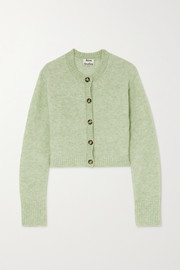 Acne Studios Cropped stretch-knit cardigan