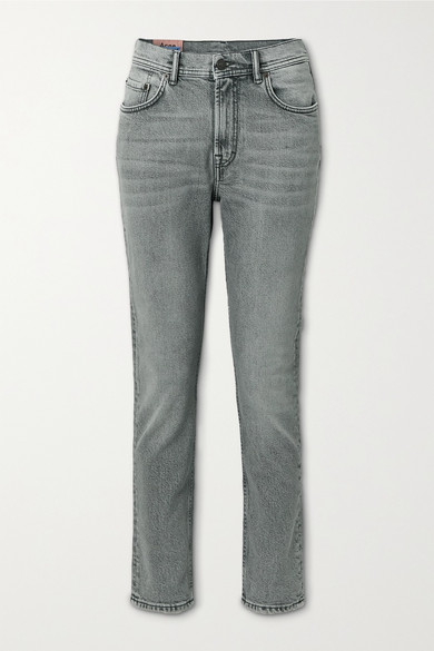 Acne Studios - High-rise Straight-leg Jeans - Gray