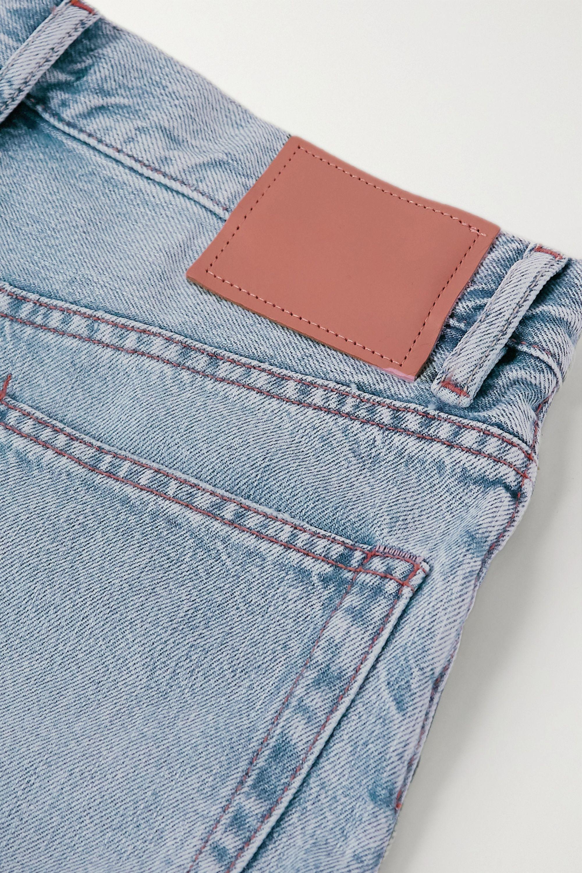 Acne Studios Organic high-rise straight-leg jeans