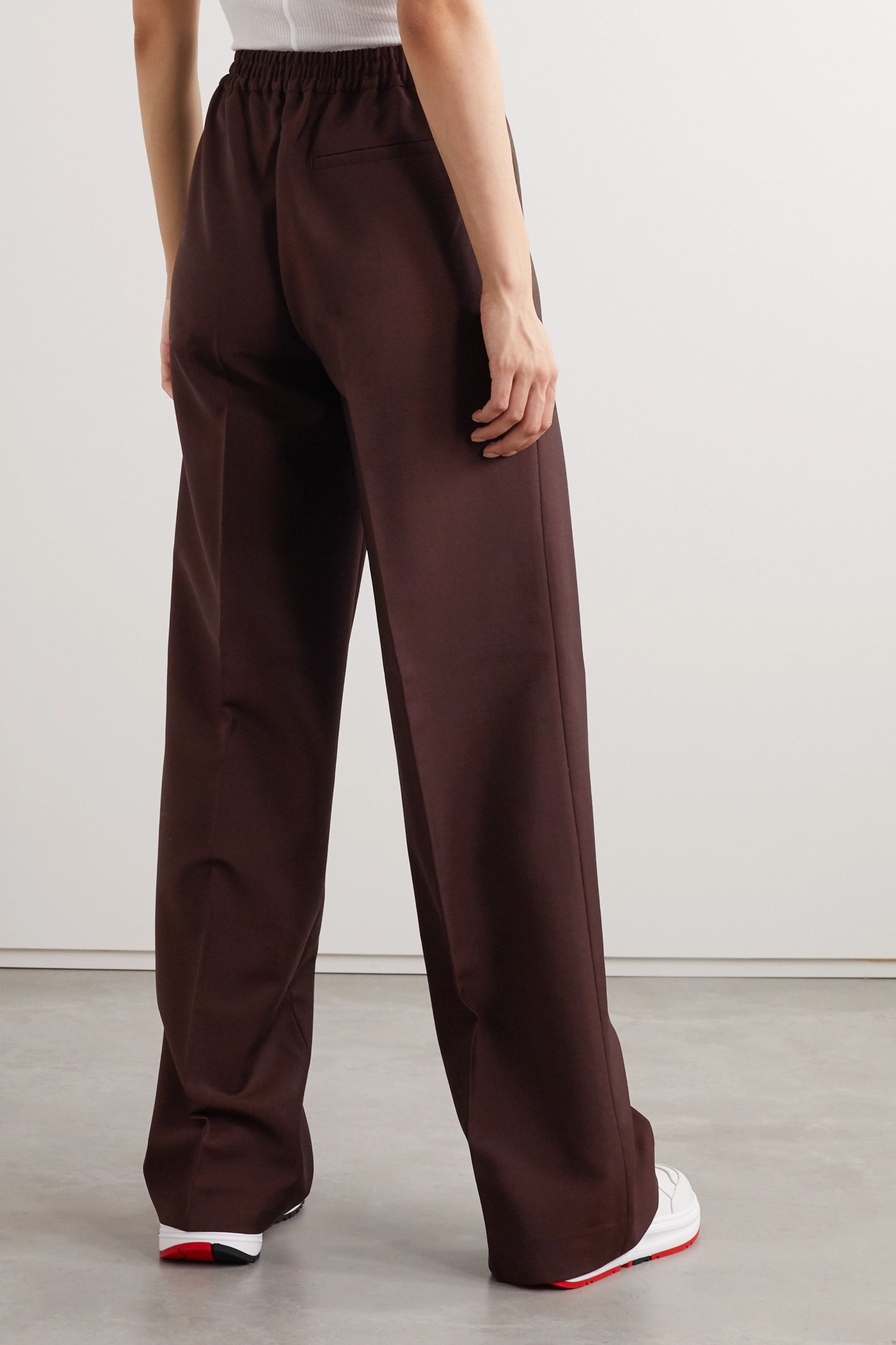 Acne Studios Wool and mohair-blend straight-leg pants
