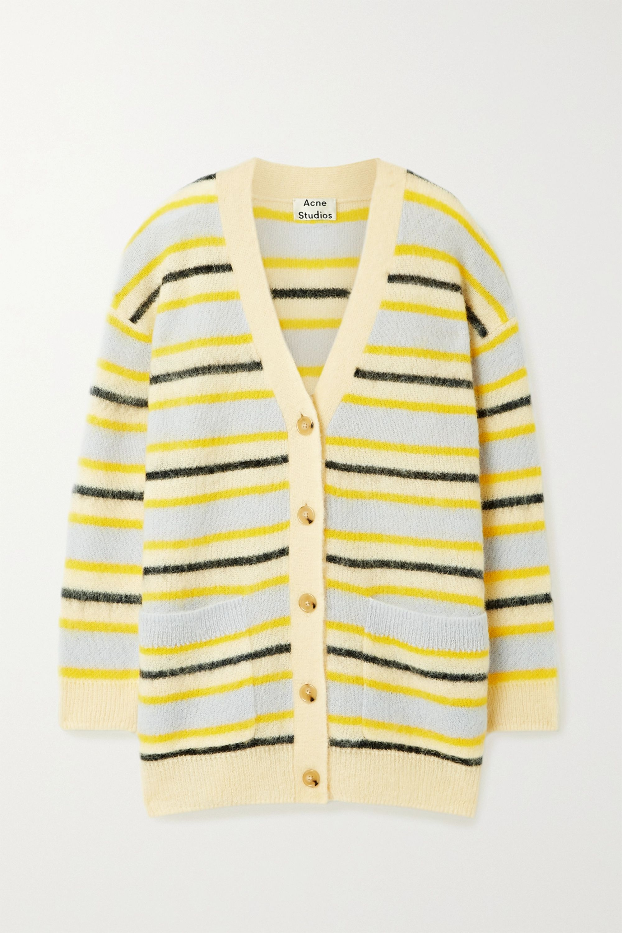 Acne Studios Striped knitted cardigan