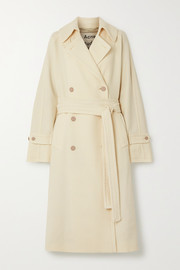 Orane oversized belted double-breasted wool-twill coat