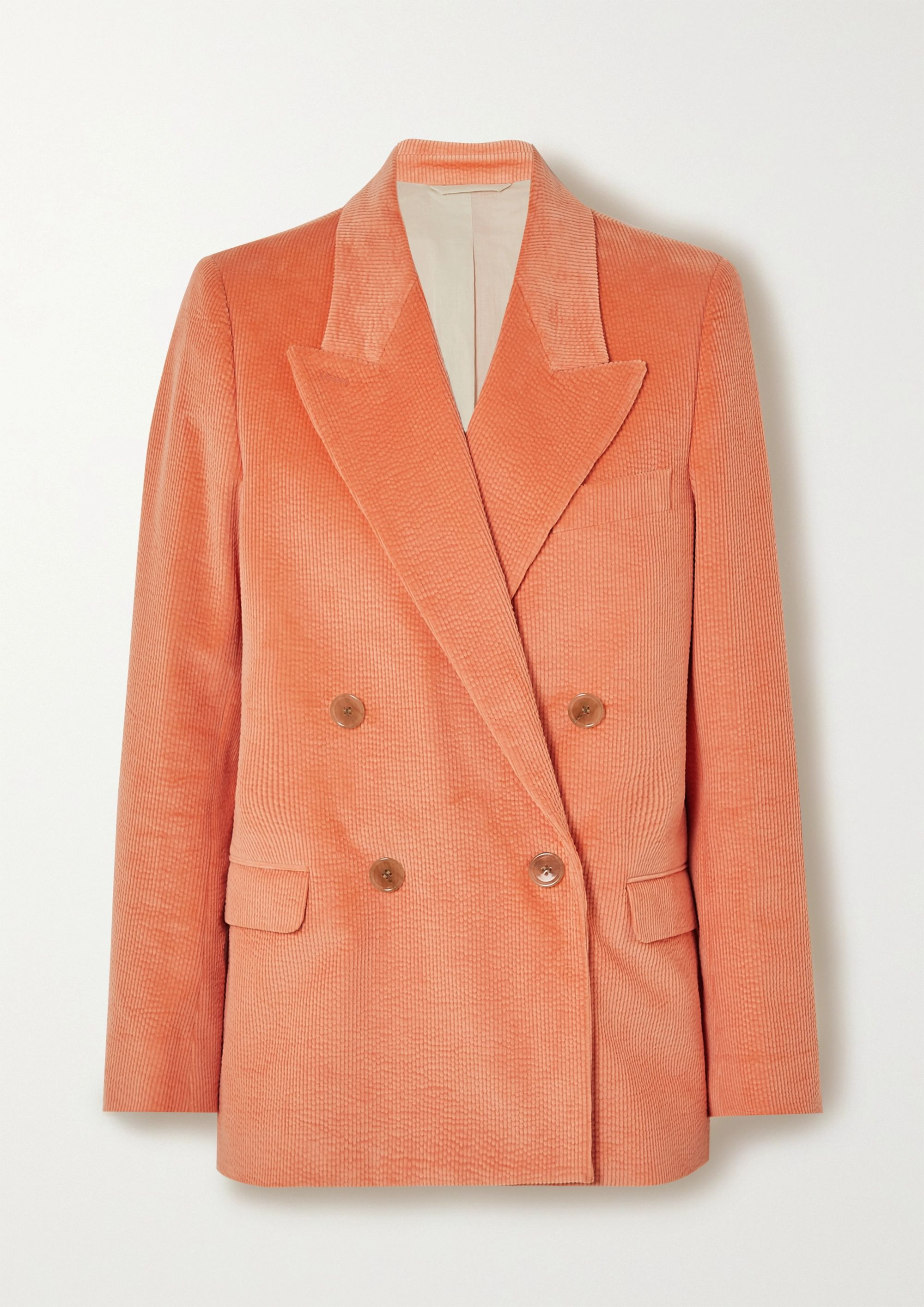 Acne Studios Double-breasted cotton-blend corduroy blazer