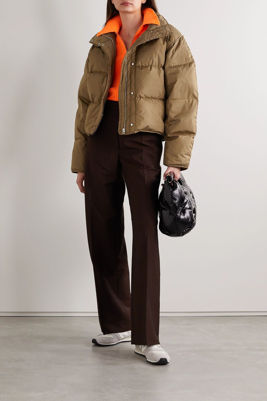 Acne Studios + NET SUSTAIN cropped quilted shell down jacket