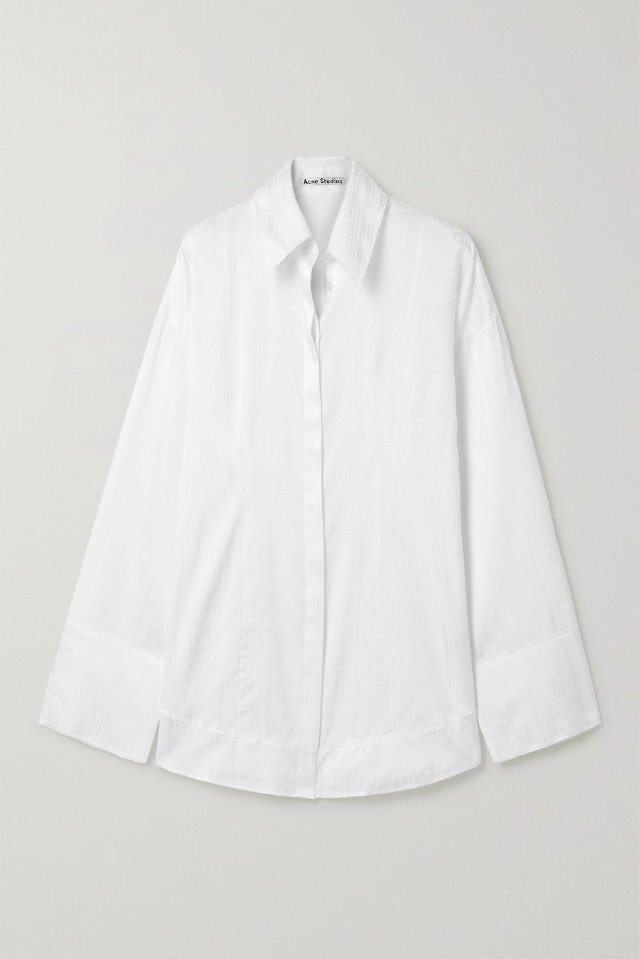 Acne Studios Oversized satin-jacquard shirt