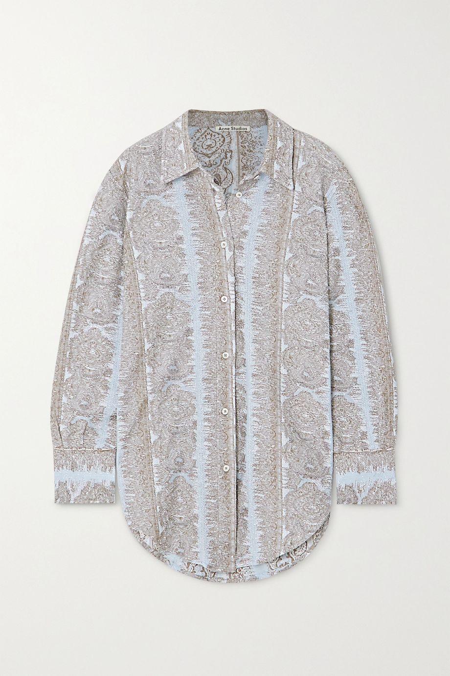 Acne Studios Metallic cotton-blend jacquard shirt
