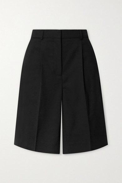 Acne Studios Ruthie Tailored Wool-blend Twill Shorts In Black