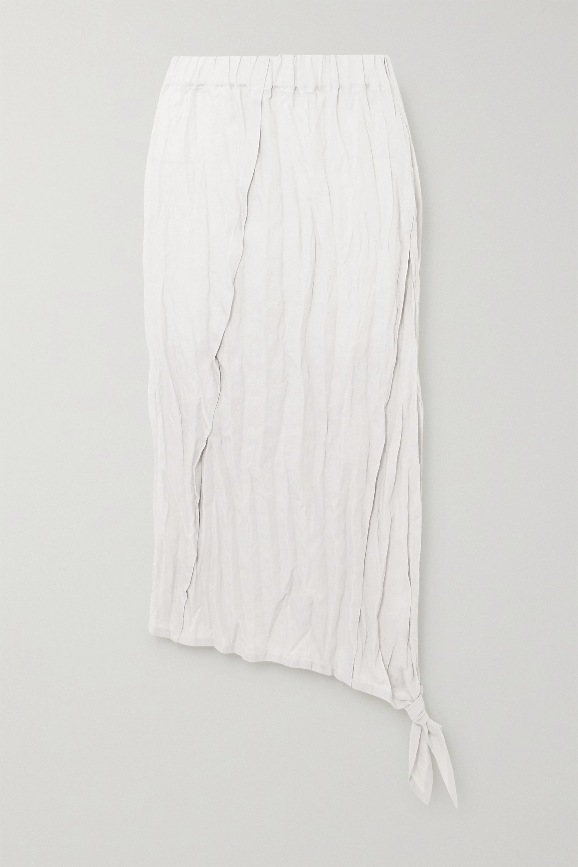Acne Studios Crinkled-linen midi skirt
