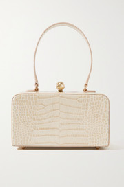 Mehry Mu Luna croc-effect leather tote
