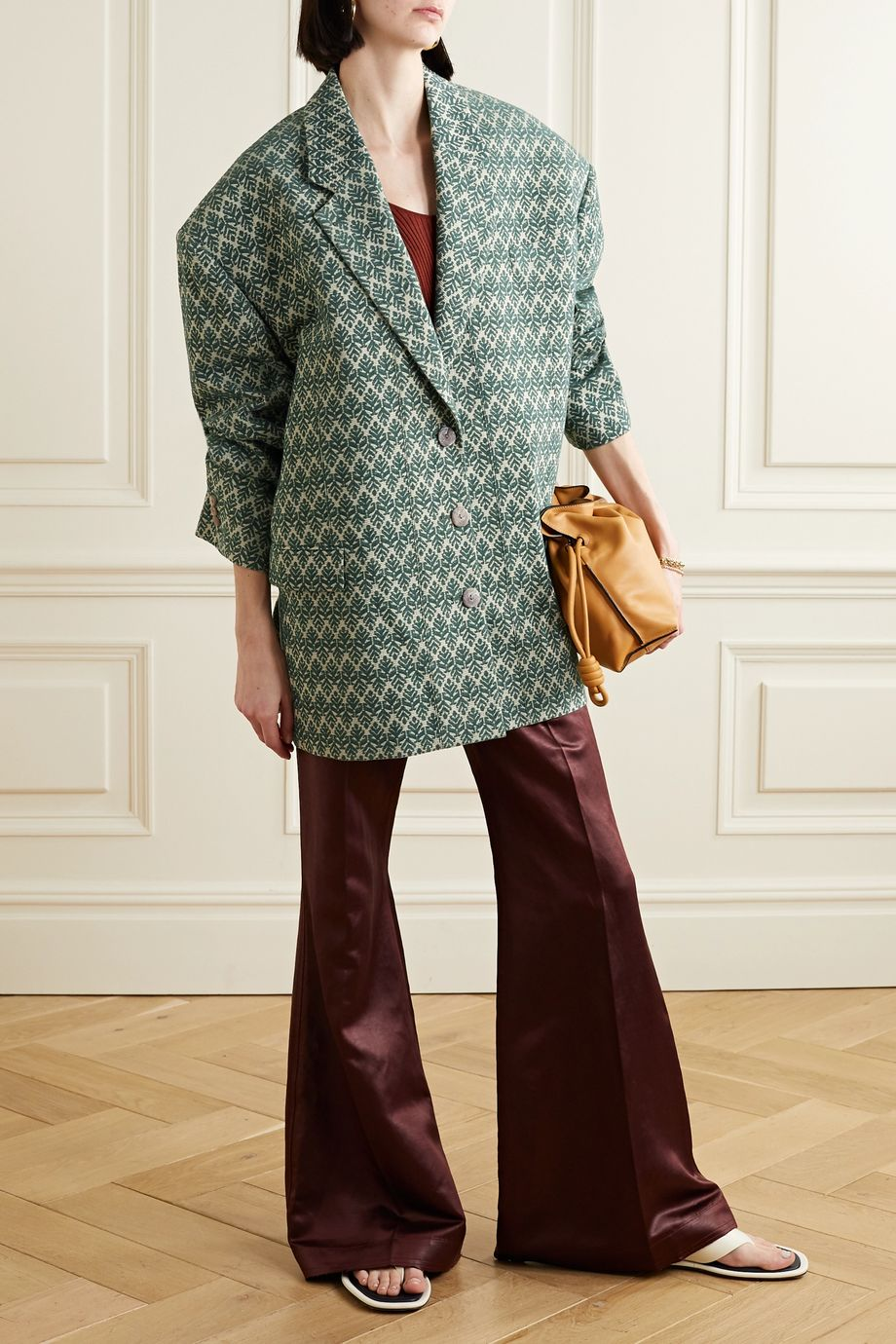 Acne Studios Oversized cotton-blend jacquard blazer