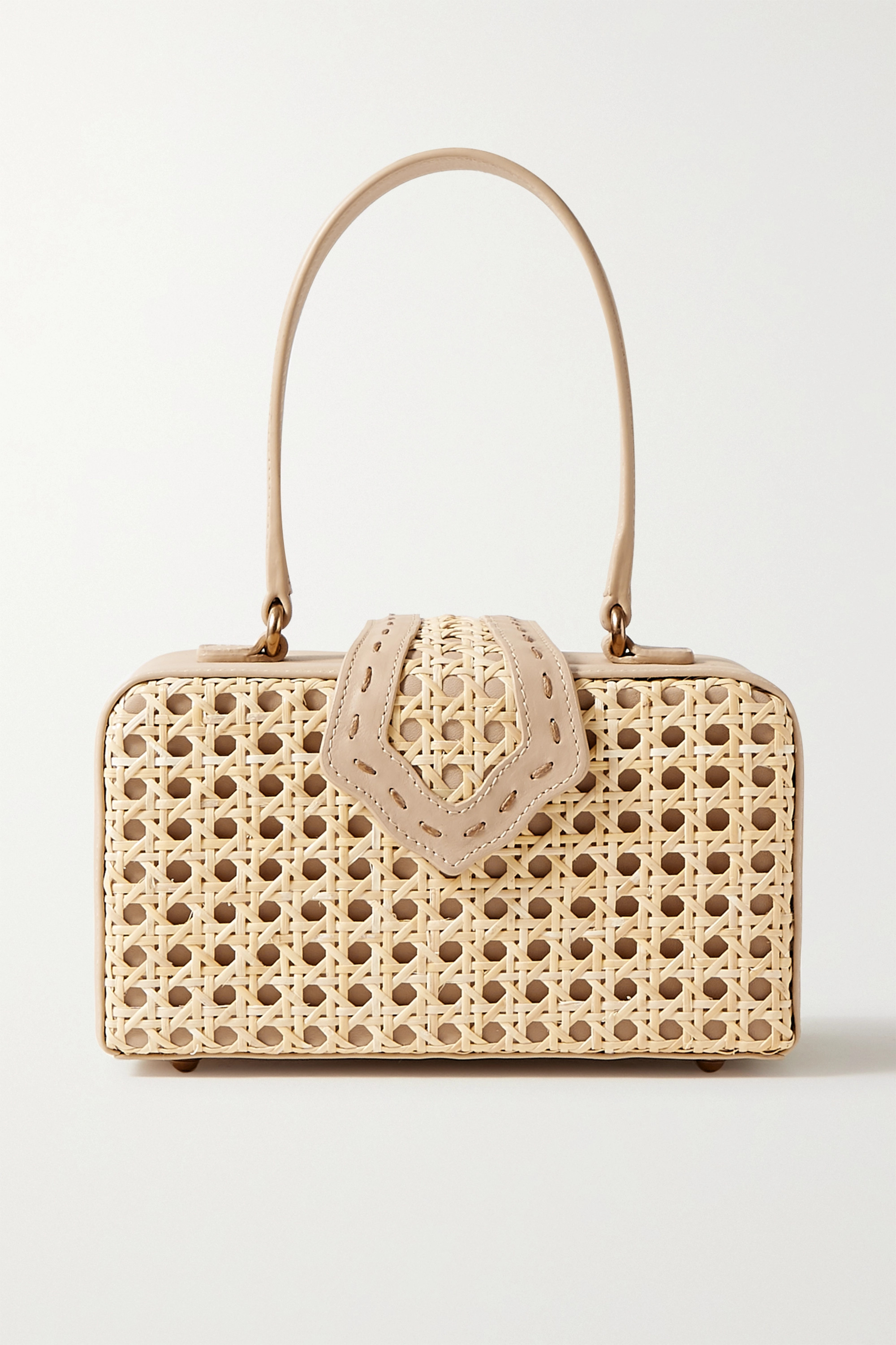 Mehry Mu Fey in the '50s rattan and leather tote