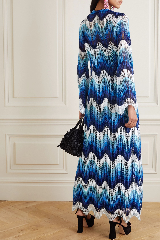 Mary Katrantzou Rolling In The Deep crochet-knit maxi dress