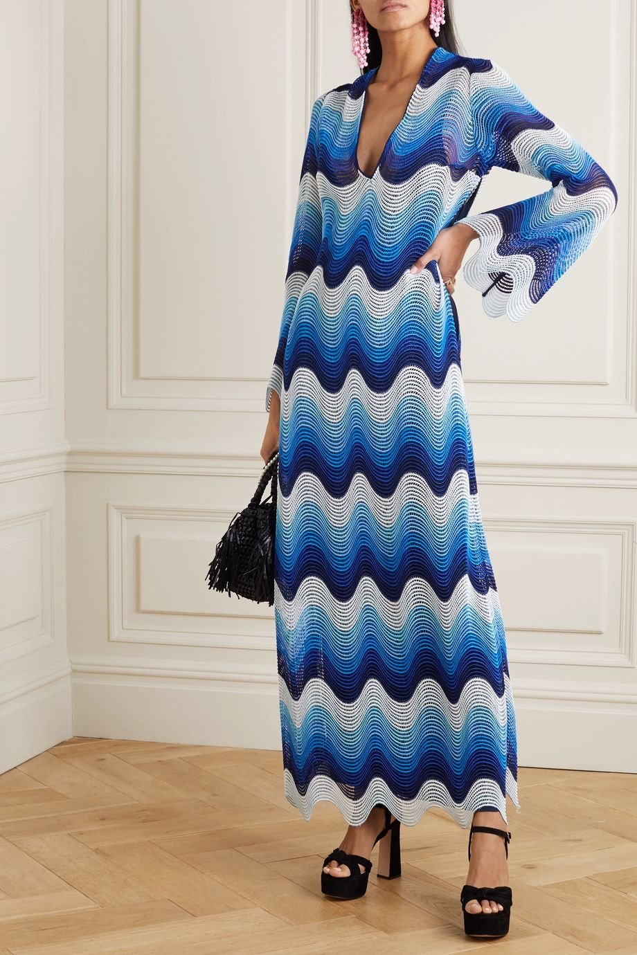 Mary Katrantzou Rolling In The Deep crochet-knit maxi dress