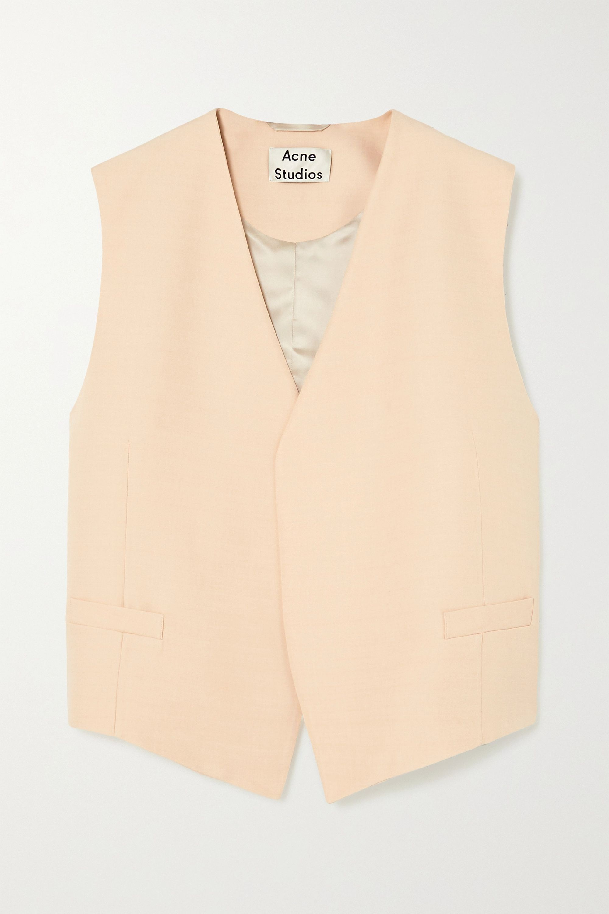 Acne Studios Zip-detailed woven vest
