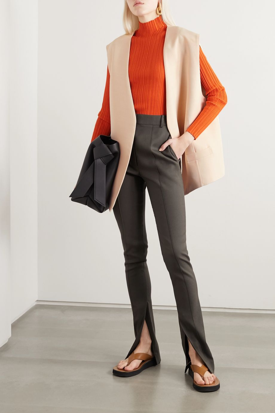 Acne Studios Zip-detailed woven vest