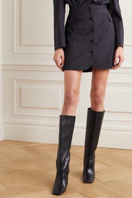 Ivet pinstriped wool mini skirt