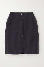 Ivet pinstriped wool mini skirt