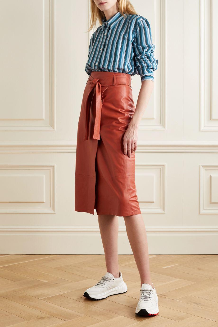 Acne Studios Striped cotton-blend voile shirt