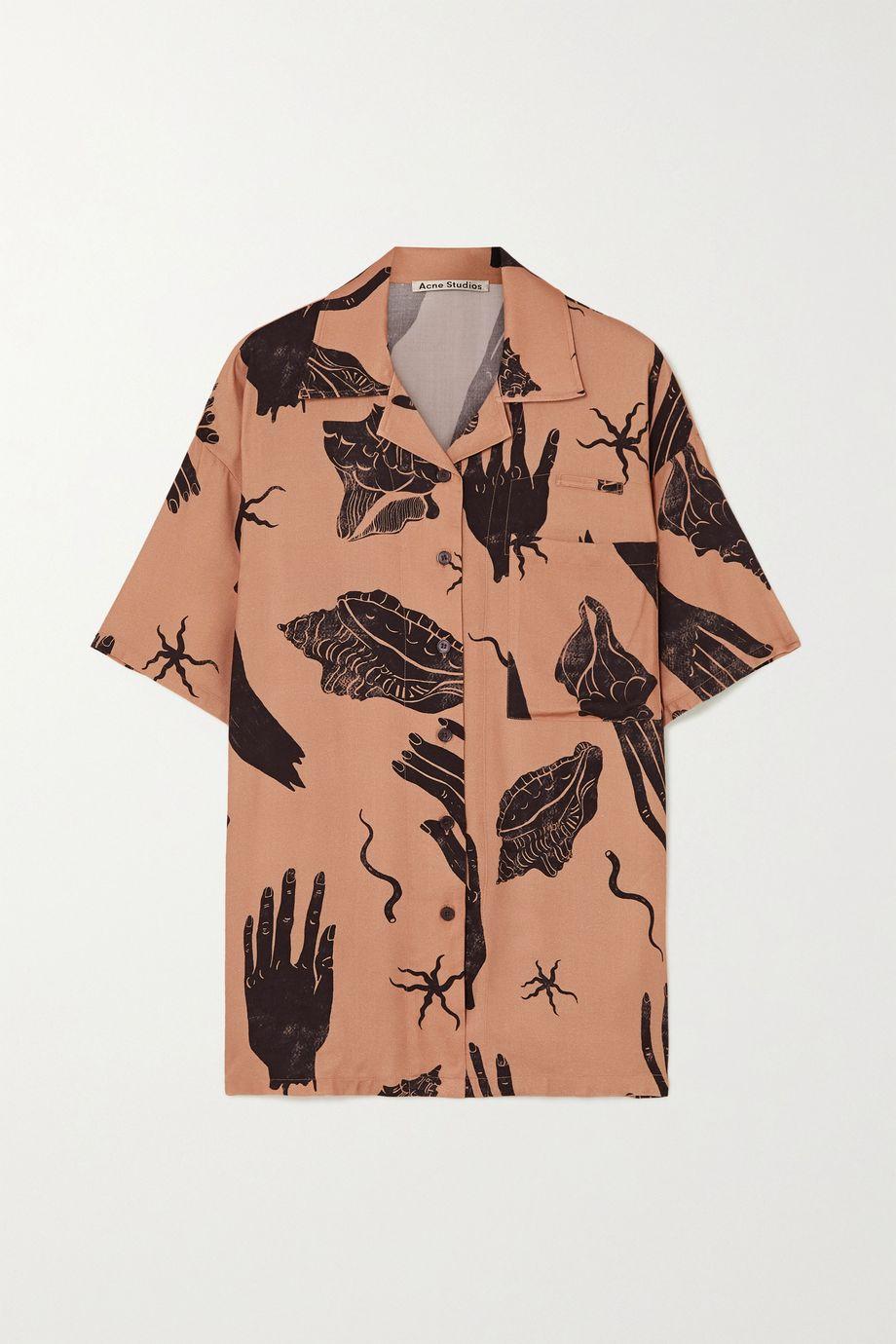Acne Studios 印花斜纹布衬衫