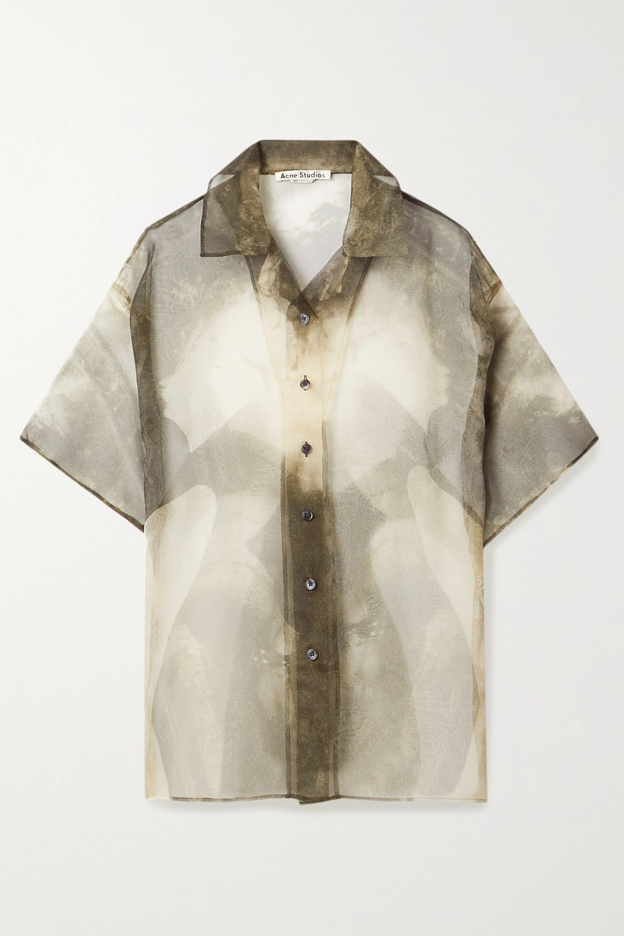 Acne Studios Printed organza shirt