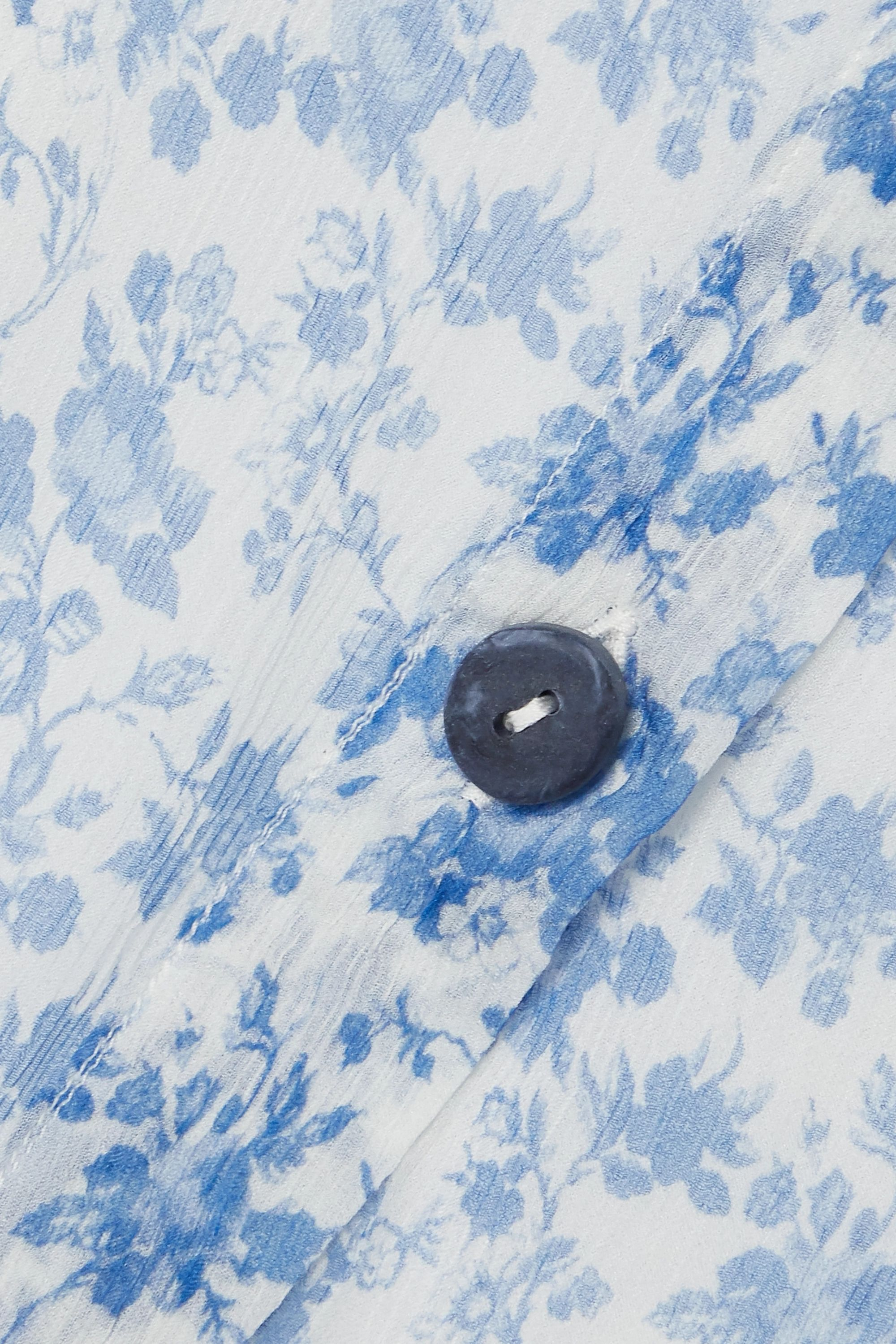Acne Studios Floral-print silk-crepon midi dress