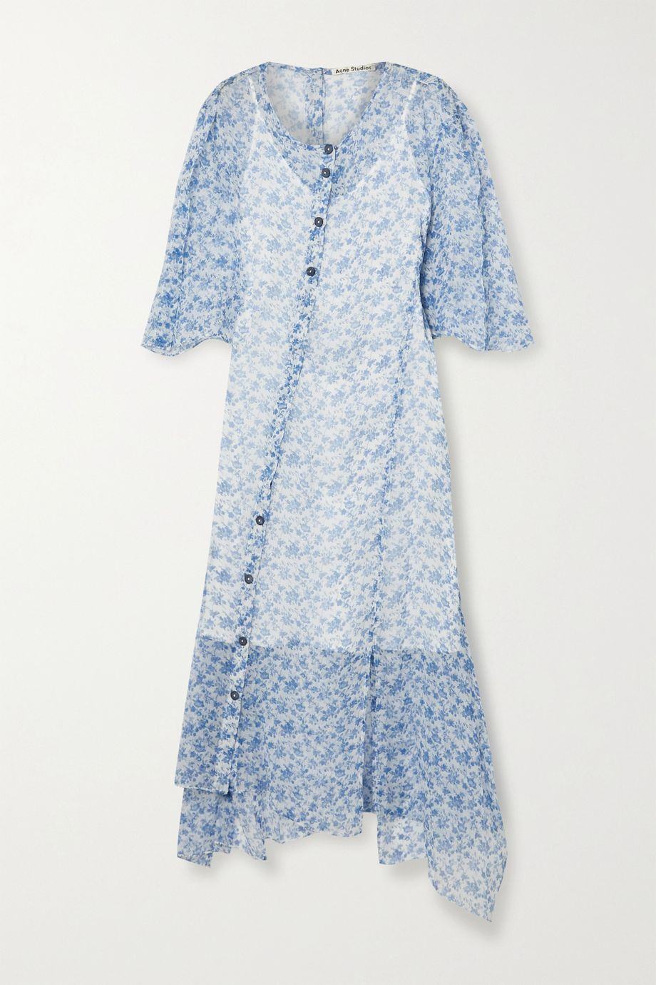 Acne Studios Floral-print silk-crepon midi dress
