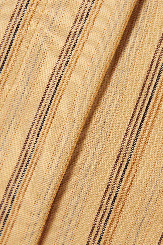 Acne Studios Cropped pinstriped grain de poudre wool flared pants