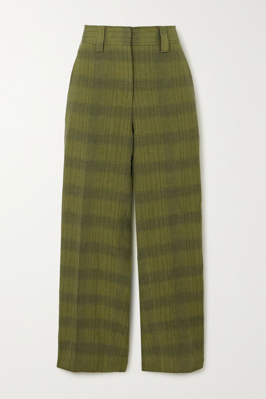 Acne Studios Checked linen-blend straight-leg pants