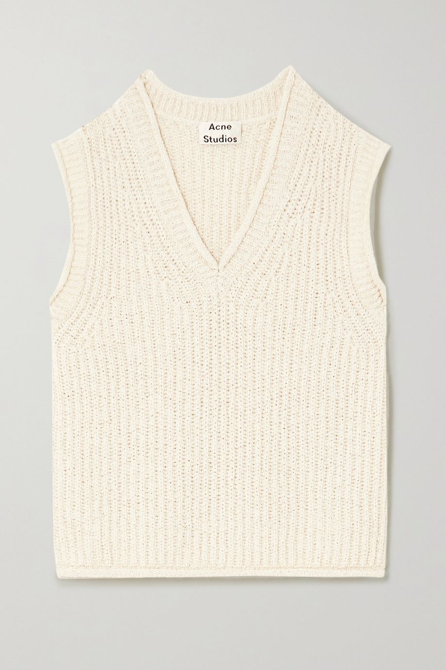 Acne Studios Ribbed cotton-blend vest