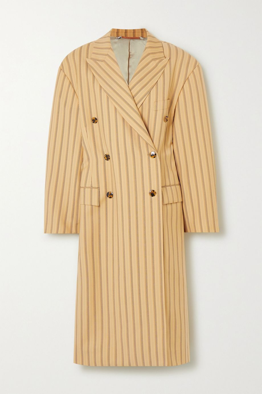 Acne Studios Oversized pinstriped grain de poudre wool coat