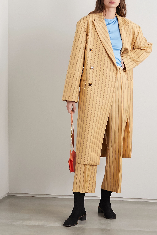 Acne Studios Oversized pinstriped grain de poudre wool coat