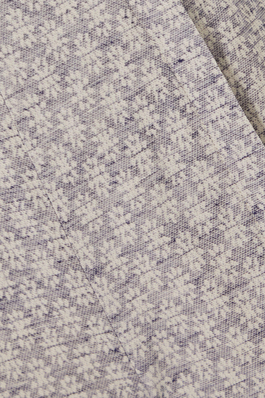Acne Studios Cotton and linen-blend jacquard flared pants