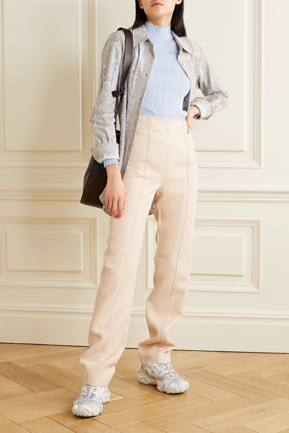 Acne Studios Whipstitched crepe straight-leg pants