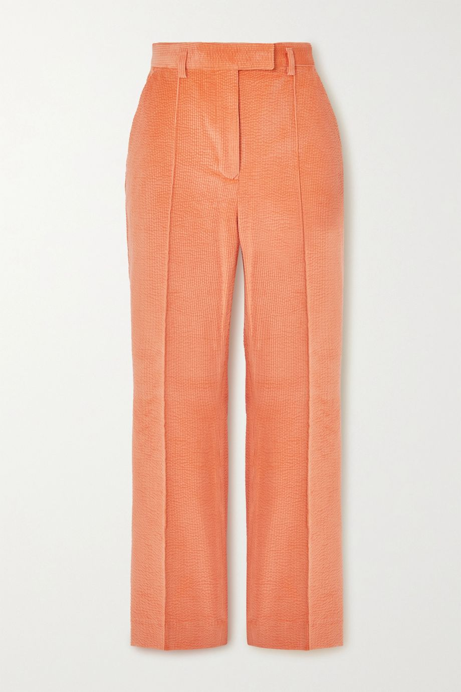 Acne Studios Cropped cotton-blend corduroy straight-leg pants
