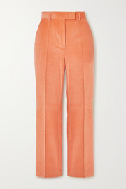Patrina cropped cotton-blend corduroy straight-leg pants
