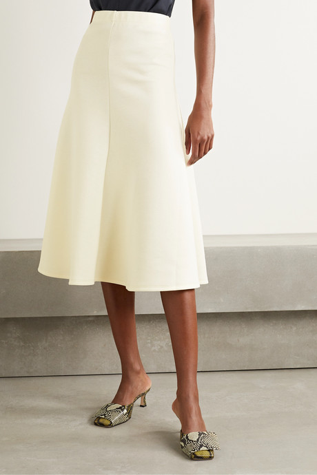 Curie jersey midi skirt