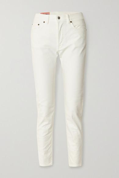Acne Studios Woman High-rise Straight-leg Jeans White