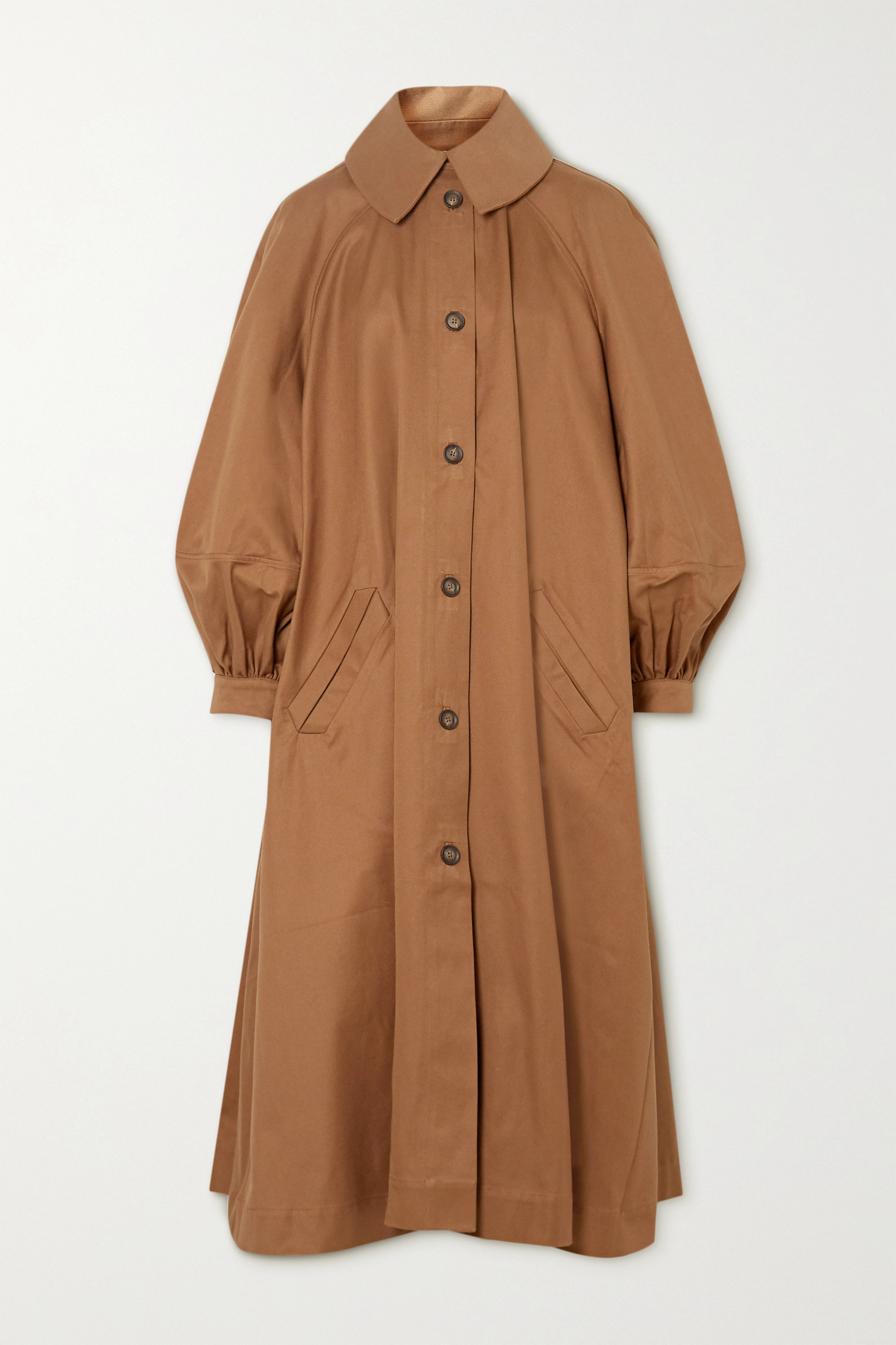 King & Tuckfield Oversized cotton-twill trench coat