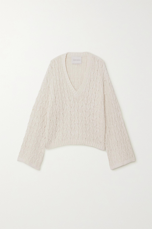 Linen & Cotton Blend Sweater